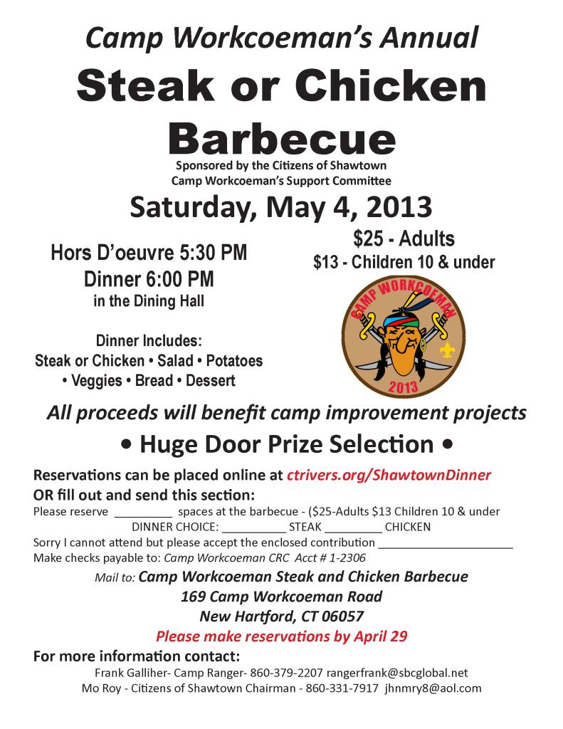 Steak or Chicken Barbecue 2013